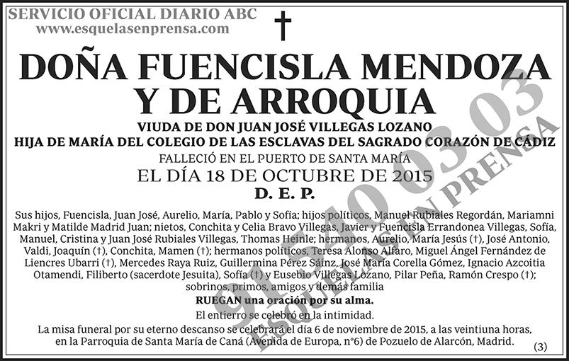Fuencisla Mendoza y de Arroquia